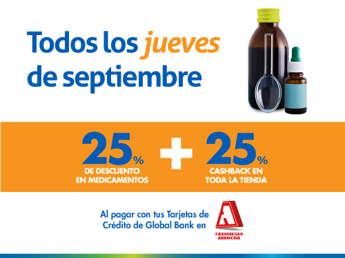 Imagen relacionada a la promoción Cashback Arrocha Medicamentos Septiembre