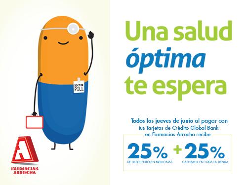 Imagen relacionada a la promoción Cashback Arrocha Medicamentos