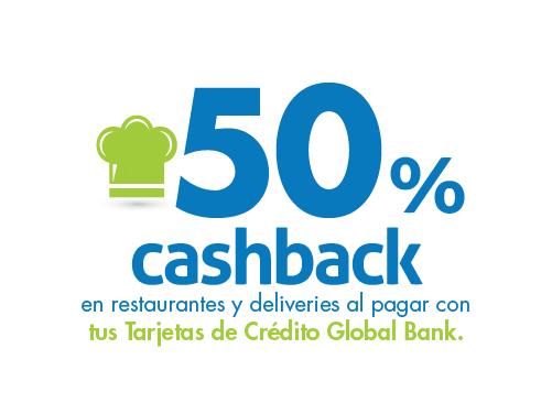 Imagen relacionada a la promoción Martes Cashback 50% restaurantes y deliveries