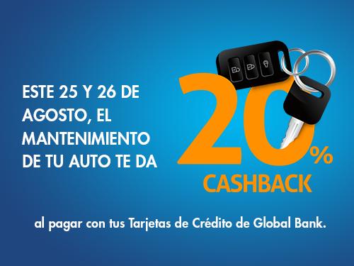 Imagen relacionada a la promoción Cashback Mantenimiento autos
