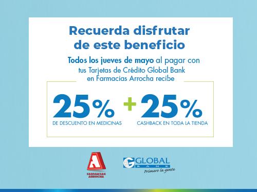 Imagen relacionada a la promoción Cashback Arrocha Medicamentos mayo