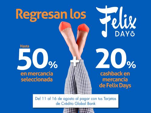 Imagen relacionada a la promoción Felix Days