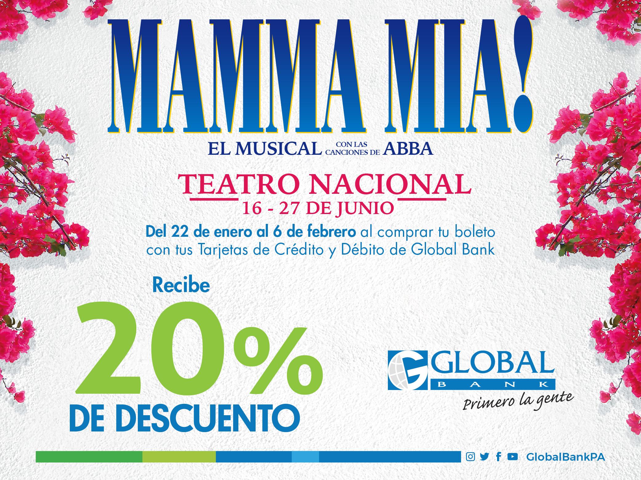 Imagen relacionada a la promoción Mamma Mia!