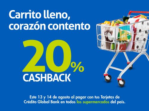 Imagen relacionada a la promoción Cashback Supermercados