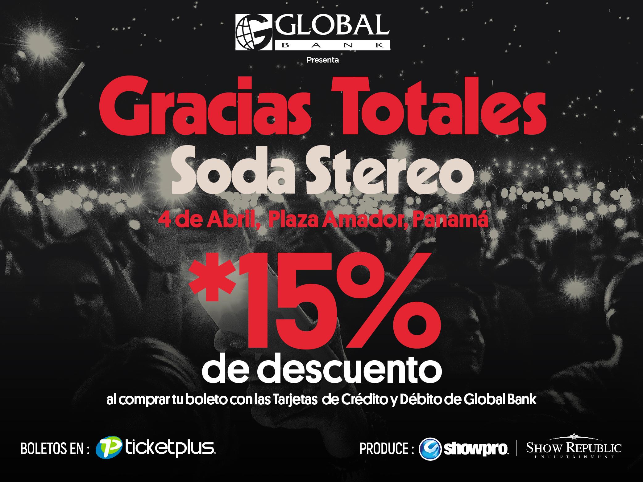 Imagen relacionada a la promoción Soda Stereo