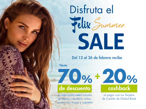 Imagen relacionada a la promoción Summer Sale Felix Febrero